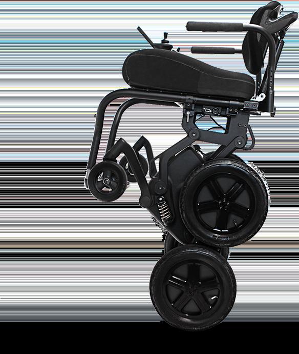 通过滑动iBOT的前轮可以实现向后移动,在保证平衡的同时车椅可保持垂直。